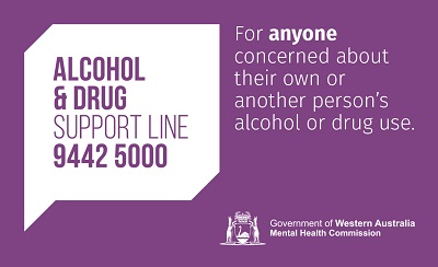 Alcohol and Drug Support Service Wallet Card