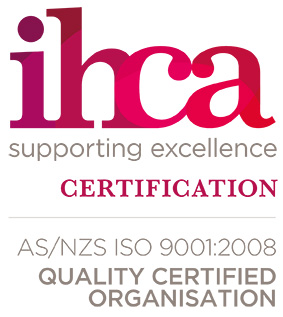 IHCAC - supporting excellence - certification AS/NZS ISO 9001:2008 quality certified organisation